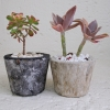 Black-and-natural-marble-resin-pots