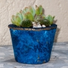 Blue-marble-concrete-planter-with-succulents