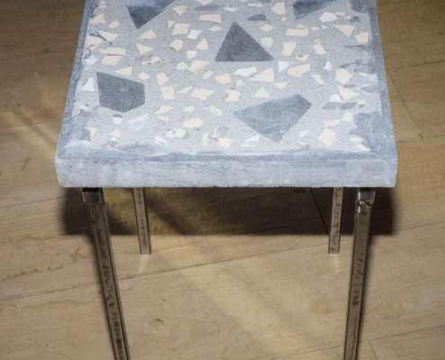 Grey-and-off-white-side-table